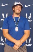 Jacob Wilkins, 17-18 Men Hammer Throw 2nd place