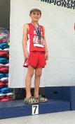 Anthony Cote, Mt Pleasant Track Club, 7th place 8 & Under Boys Javelin Throw