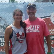 Reagan Fleming and Coach Shealy