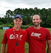 Liam Christensen and Coach Flournoy